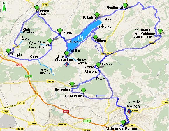 Randauto Autour Du Lac Bleu Charavines Paladru Gite La Source